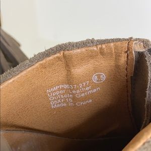 naughty monkey Shoes - Naughty Monkey Fringe Suede Open Toe Heels